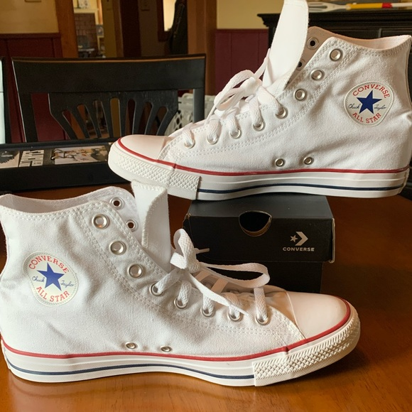 Brand New Converse White Hit Tops Size 10